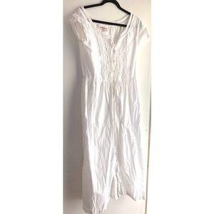 Guess White Boho Prairie Dress 11